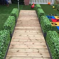 artificial hedge decking