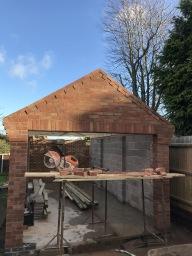 Garage brickwork in Loughborough