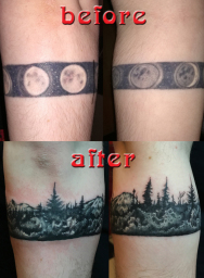 Forest Tattoo cover up London Blue Lady Tattoo