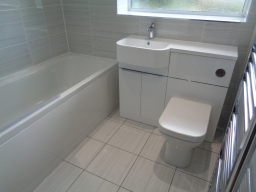 Bathroom fitted with Trojan & Tavistock furniture