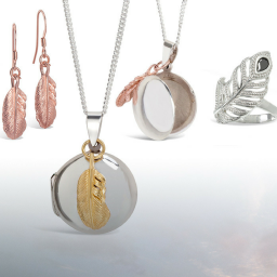 Lily Blanche Feather Locket collection