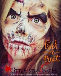 Halloween face paint zombie