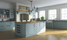 Blue painted Shaker kitchen