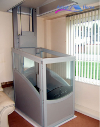 Through floor lift installation