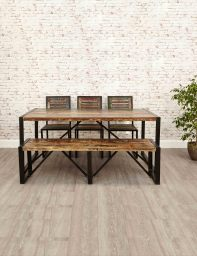 Industrial Reclaimed Dining Table | The Den & Now