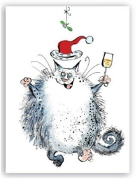 Christmas Cats - greeting card collection  for the festive season