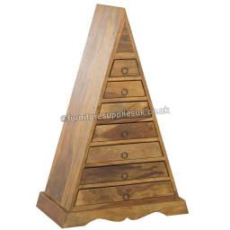 Indian Sheesham Pyramid Chest Of Drawers
