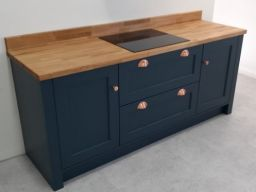 Shaker-style painted kitchen units