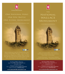 Wallace Monument advert campaign by G3 Creative in