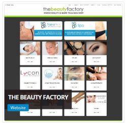 Beauty Factory Website Designer