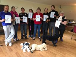 Canine First Responder Course students