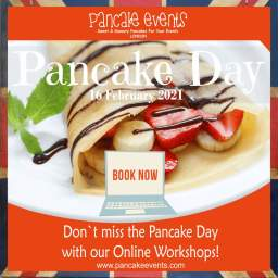 Pancake Day Catering and Online Workshop London,