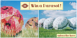 Win an Indian Parasol / garden umbrella