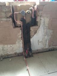 First fix concealed bath valve