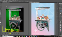 Digital editing for Astrid Jensen Chic Candy Carts