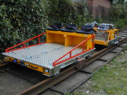 Motorised Electric Cart and Rail Rescue Trailer