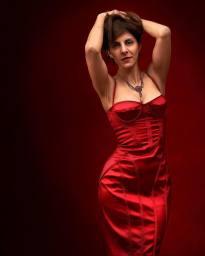 Ayfer in Red Karen Millen Dress