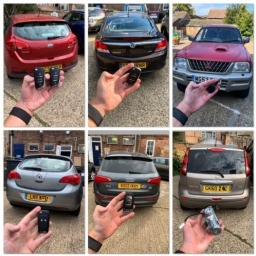 Vehicle Montage of car keys that we supply