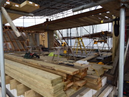 cut and pitch roof by our roofing carpenters