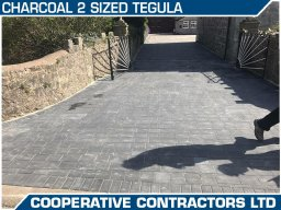 2 Different Sized Tegula Paving on Driveway