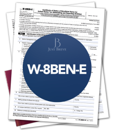 Form W-8BEN-E preparation