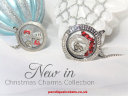 Pendique Lockets, Christmas Floating Charms