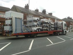 Lorry load of Assems Trailers