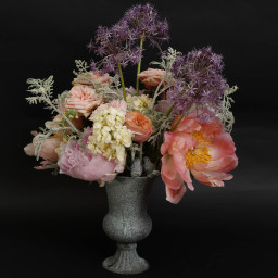 Small urn, wedding table centrepiece