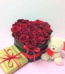 Valentine's day box of roses