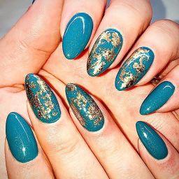 New icy aqua nails