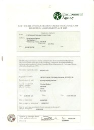 EA Waste carriers licence