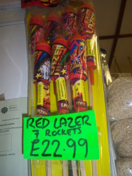 Red Lazer Rockets 7 for £23.95