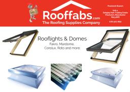 Large range of Rooflights & Domes.