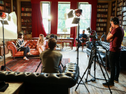 Crosscut Media behind the scenes at Rise Hall