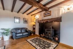 Moorehouse Farm Shropshire Lounge Area And Fire