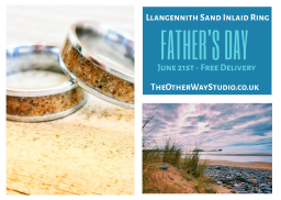 Father's Day Llangennith Sand Inlaid Ring