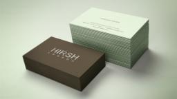 Hirsh London branding