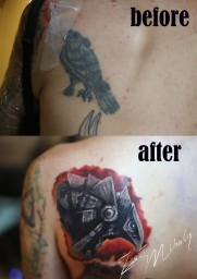 tattoo cover up @ Stotker Tattoo