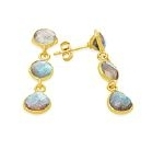 Gold Vermeil Labradorite Earrings from Rodgers & Rodgers