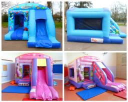 Combo inflatable slide