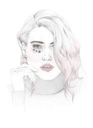 Whimsical Pencil Portrait Illustration