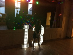 S.O.M. Photo Booth Hire Giant LED 13 Numbers For H