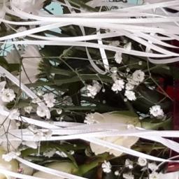 Floral Ribbon, Satin Ribbon, Ribbon for Flowers, Bouquet Ribbon