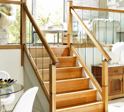 Immix stairs with over-the-post handrail