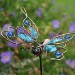 Blue Wire Butterfly - £6.50
