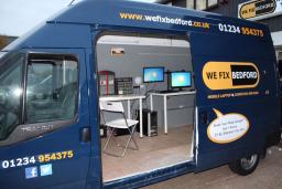 Inside our mobile van repair unit