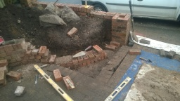 front garden wall alteration