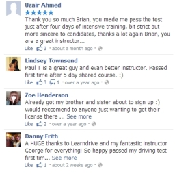 Excellent reviews and feedback for learndrive.co.uk
