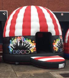 Adult red & white Disco Dome
