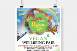 Rainbow Events Vegan Well-being Ethical Fair Poster Design